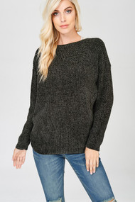 The Eden Sweater- Charcoal
