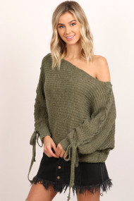 The Cora Sweater- Olive