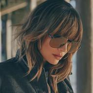 Quay Australia Sahara Sunglasses- Black/Olive Lens