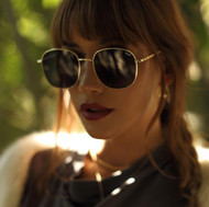 The Quay Australia Jezzabell Sunglasses- Gold/Smoke