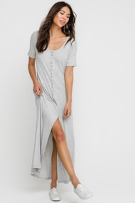 The Robyn Dress- Heather Grey