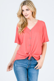 The Kira Top- Coral