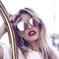 The Quay Australia Cool Innit Sunglasses- Black/Pink Mirror