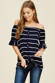 The Molly Top- Navy