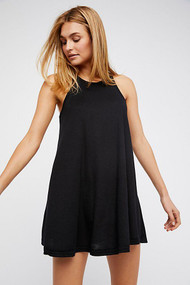 Free People LA Nite Mini Dress- Black