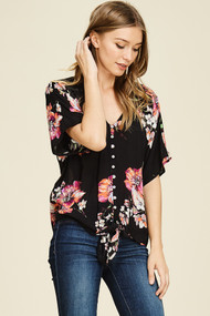 The Angela Top- Black