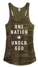 One Nation Under God Tank- Camo