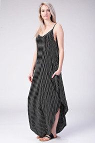 The Talia Maxi Dress- Black