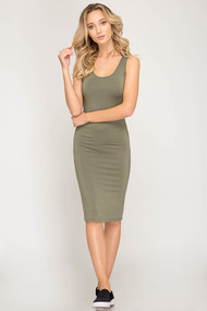 The Emmy Dress- Olive