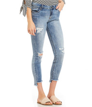 The Kut Denim Connie Ankle Step Fray Hem Skinny Jeans