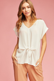 The Lila Top- Ivory