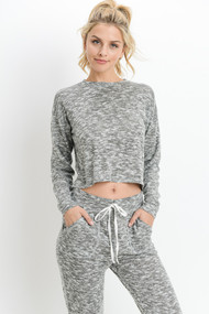 The Brianna Top- Grey