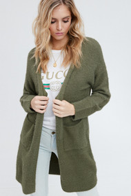 The Kourtney Cardigan- Olive