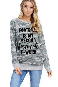 Camo Football Sweatshirt
