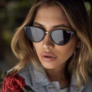 The Quay Australia Rumours Sunglasses- Black/Smoke Lenses