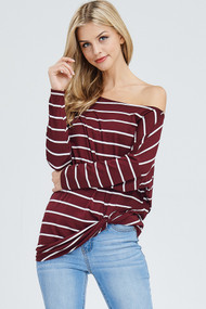 The Richelle Top- Burgundy