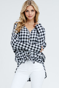 The Jackie Top- Black and White