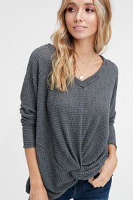 The Jess Top- Charcoal