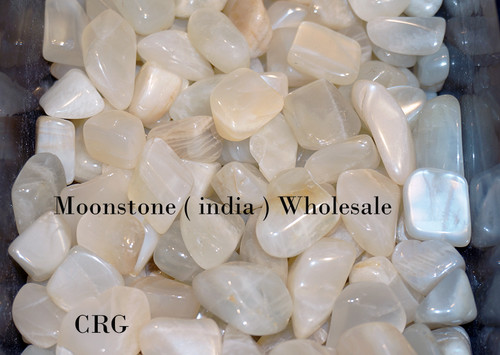 Light Moonstone Tumbled Gemstone 1/2-LB