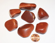 Goldstone Tumbled Gemstones 1-LB