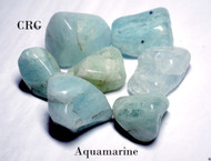 Aquamarine Tumbled Gemstones 1/2-LB