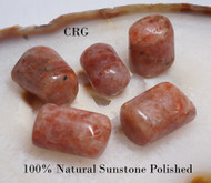 "POLISHED SUNSTONE Select Gemstone 1""-1.5"" Avg"
