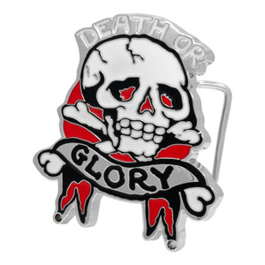 Death Or Glory Skull Belt Buckle