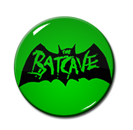 "Batcave - Green Logo 1"" Pin"
