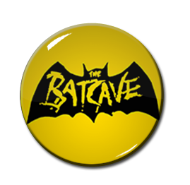 "Batcave - Yellow Logo 1"" Pin"