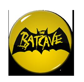 "Batcave - Yellow Logo 1"" Pin"