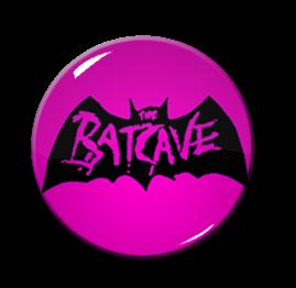 "Batcave - Pink Logo 1"" Pin"