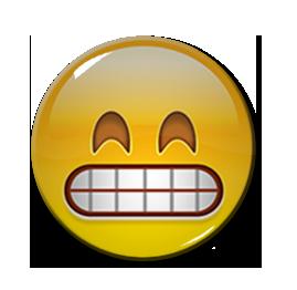 """Grin Emoji 1.5"""" Pin"""