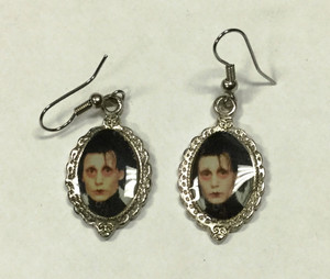 Edward Scissorhands Cameo Earrings