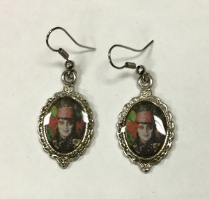 The Mad Hatter Cameo Earrings