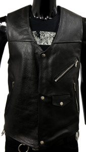 Black Country Rocker Leather Vest