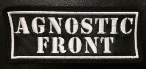 """Agnostic Front Logo 4.5x2"""" Embroidered Patch"""