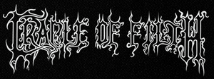 "Cradle of Filth Logo 6x3"" Printed Patch"