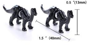 Black Brontosaurus Earrings