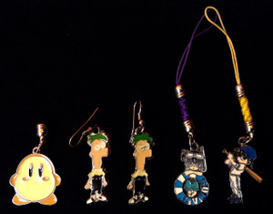 Lot of Earrings & Cell Phone Charms