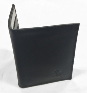 Mini Black Leather Wallet