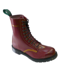 """Solovair 11 Eye Steel Toe """"Southerner"""" in Cherry *Made in England*"""