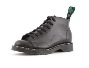 Solovair 7 Eye Monkey Boot in Black *Made in England*
