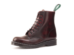 Solovair - 8i Burgundy Rub-Off Derby Boots *Made in England*