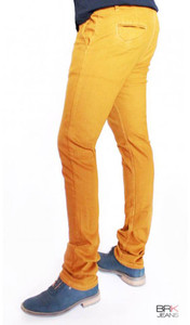 BRK Jeans - Chino Style Skinny Jeans in Mustard Yellow