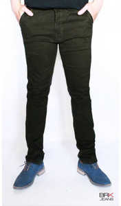 BRK Jeans - Chino Style Skinny Jeans in Olive Green