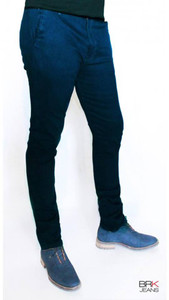 BRK Jeans - Chino Style Skinny Jeans in Petroleum Blue