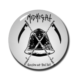 "Midnight - Farewell to Hell White 1.5"" Pin"