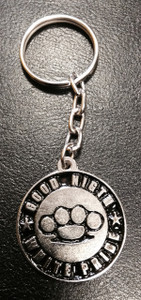 Good Night White Pride Metal Chain Keyring