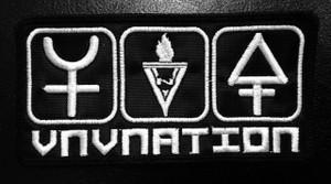 "VNV Nation Chrome Symbols 5""x2.5"""" Embroidered Patch"