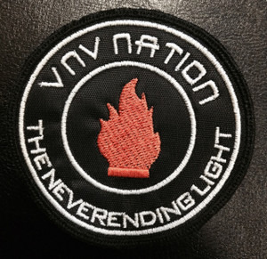 """VNV Nation The Never Ending Light 3x3"""" Embroidered Patch"""